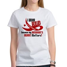 Red For Husband Heart Disease Shirt Tee