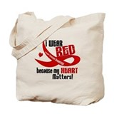 I Wear Red For Me Heart Disease Tote Bag