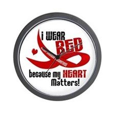 I Wear Red For Me Heart Disease Wall Clock