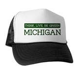 Green MICHIGAN Trucker Hat
