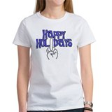 happy holidays middle finger Hanukkah Tee