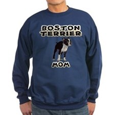 Boston Terrier Mom Sweatshirt (dark)