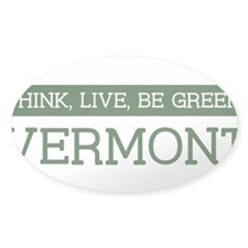 Green VERMONT Oval Sticker (50 pk)
