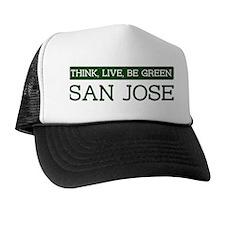 Green SAN JOSE Trucker Hat