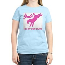 Pink Bucking Horse 'Stunts' Women's Pink T-Shirt