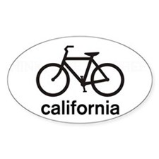 Bike California Oval Decal