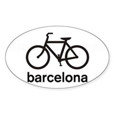 Bike Barcelona Oval Decal