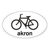 Bike Akron Oval Decal
