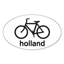 Bike Holland Oval Stickers