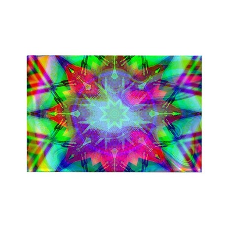 Colorful Star Rectangle Magnet