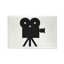 black cine camera hollywood Rectangle Magnet (10 p