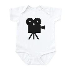 black cine camera hollywood Infant Bodysuit