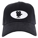 black cine camera hollywood Baseball Hat