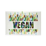 Colorful Vegan Rectangle Magnet (100 pack)
