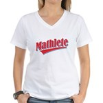 Mathlete Women's V-Neck T-Shirt