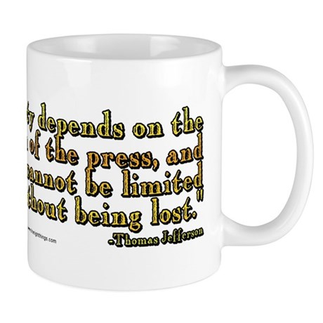 Thomas Jefferson Free Press Q Mug