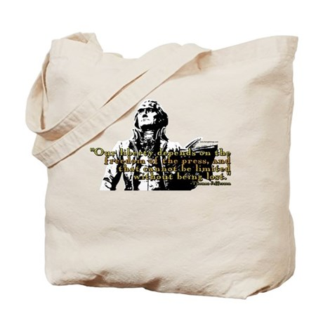 Thomas Jefferson Free Press Q Tote Bag
