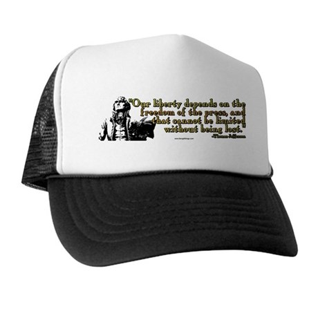 Thomas Jefferson Free Press Q Trucker Hat