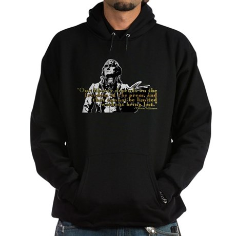 Thomas Jefferson Free Press Q Hoodie (dark)