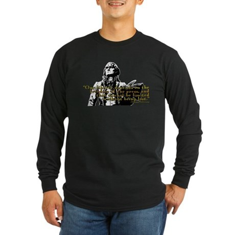Thomas Jefferson Free Press Q Long Sleeve Dark T-S