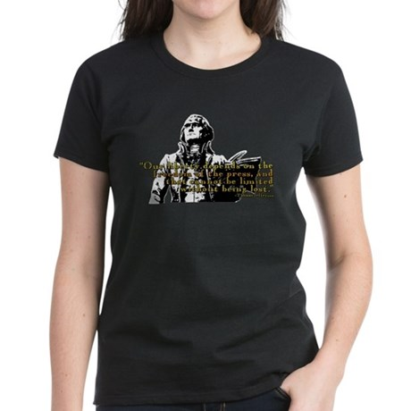 Thomas Jefferson Free Press Q Women's Dark T-Shirt