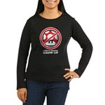 I Don't Wanna Grow Up Women's Long Sleeve Dark T-S