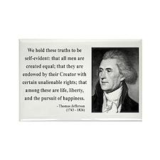 Thomas Jefferson 14 Rectangle Magnet (10 pack)