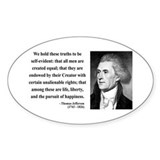 Thomas Jefferson 14 Oval Decal