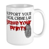 Crime Lab - Leave Your Prints Mug