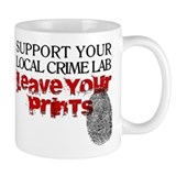 Crime Lab - Leave Your Prints Small Mugs