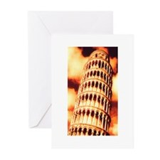 Leaning Tower of Pisa Greeting Cards (Pk of 10)