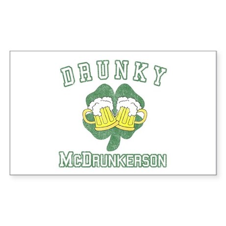 Drunky McDrunkerson Rectangle Sticker