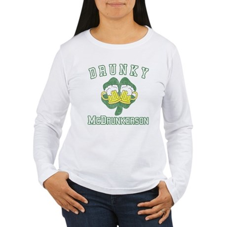 Drunky McDrunkerson Womens Long Sleeve T-Shirt