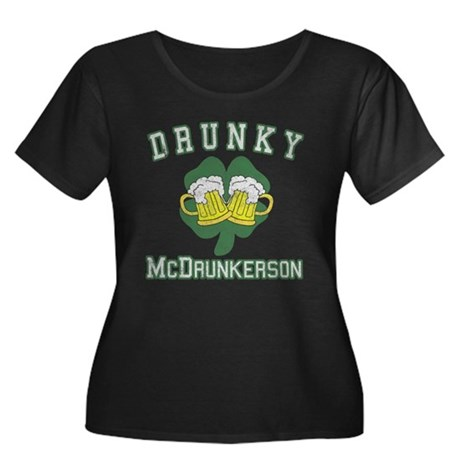Drunky McDrunkerson Womens Plus Size Scoop Neck D