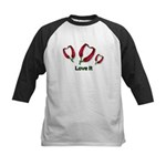 Valentine's Day Love It Kids Baseball Jersey