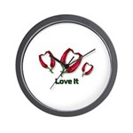 Valentine's Day Love It Wall Clock