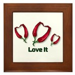 Valentine's Day Love It Framed Tile