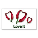 Valentine's Day Love It Rectangle Sticker 10 pk)