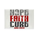HOPE FAITH CURE Brain Cancer Rectangle Magnet