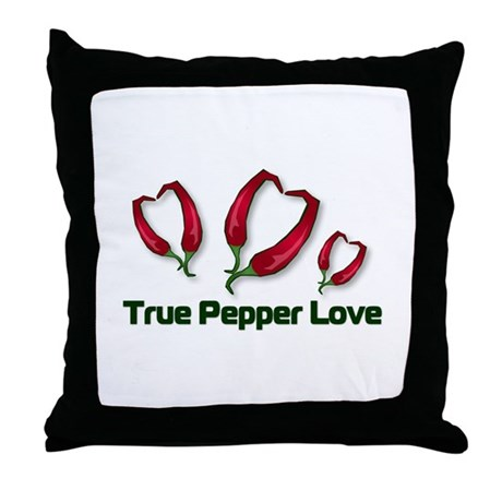 True Pepper Love Throw Pillow