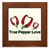True Pepper Love Framed Tile