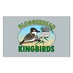 Bloggerhead (lg img) Rectangle Sticker 10 pk)
