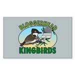 Bloggerhead (lg img) Rectangle Sticker 50 pk)