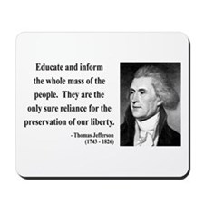 Thomas Jefferson 22 Mousepad