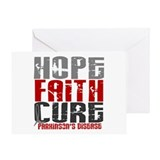 HOPE FAITH CURE Parkinson's Disease Greeting Card