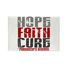 HOPE FAITH CURE Parkinson's Disease Rectangle Magn