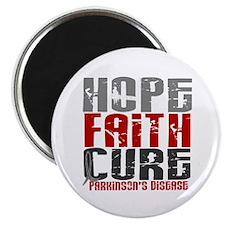 "HOPE FAITH CURE Parkinson's Disease 2.25"" Magnet ("