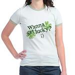 Wanna Get Lucky? Jr. Ringer T-Shirt
