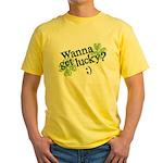 Wanna Get Lucky? Yellow T-Shirt