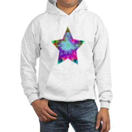 Colorful Star Hooded Sweatshirt